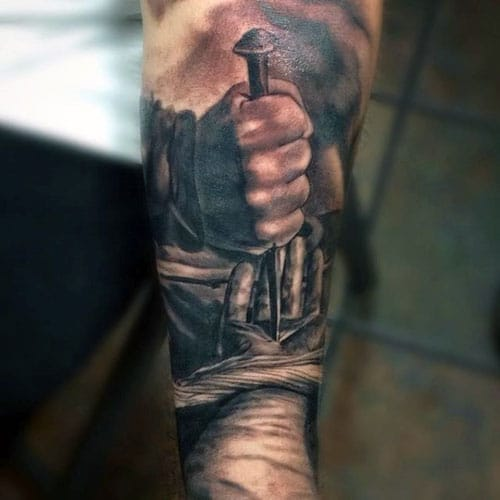 top mens forearm sleeve tattoo design ideas