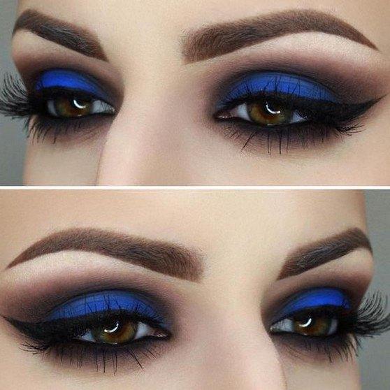 black and blue eyeshadow looks