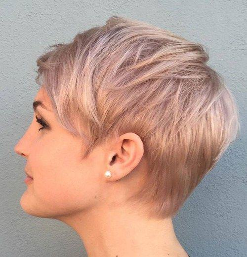 effortless pixie cut with short bangs