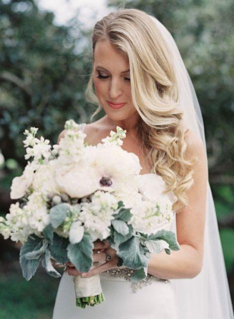 best wedding hair with flowers ideas