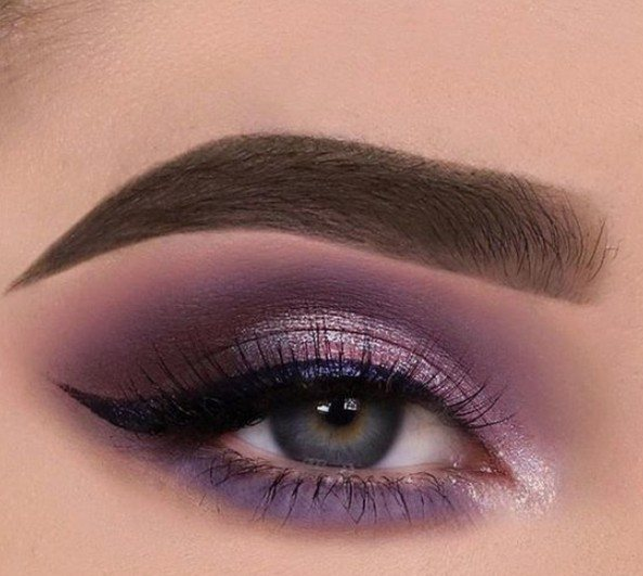 light pink smokey eye