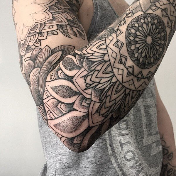 top aztec tribal forearm tattoos design images