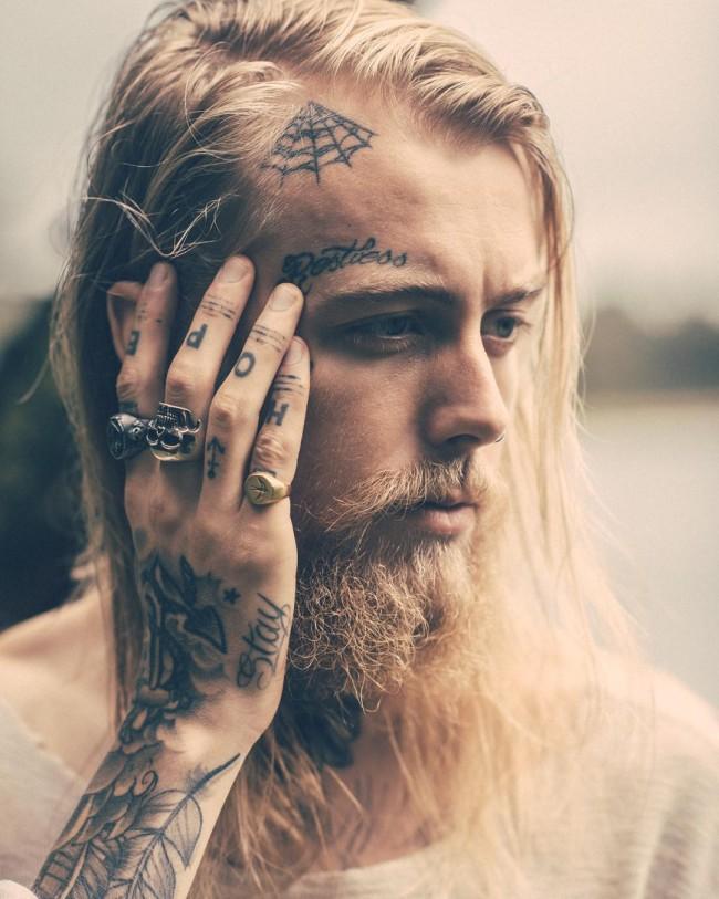 unique words unique face tattoos design picture