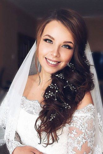 bridal hairstyles with veil images