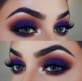 makeup with blue eyeshadow