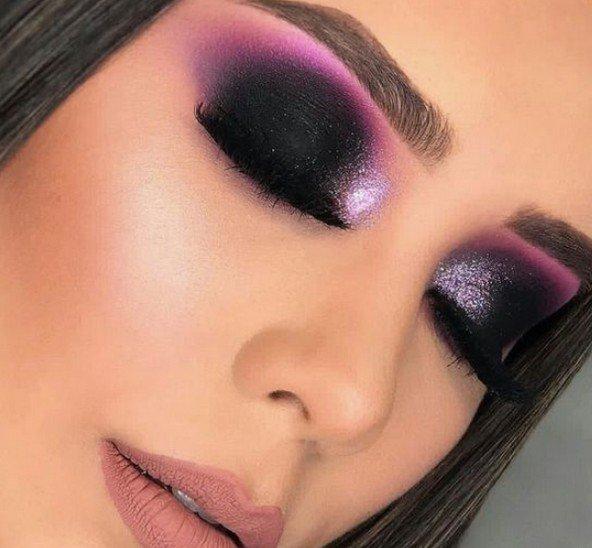 best pink green eye makeup images