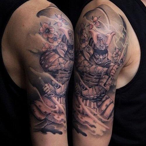 polynesian tribal forearm tattoos on shoulder ideas