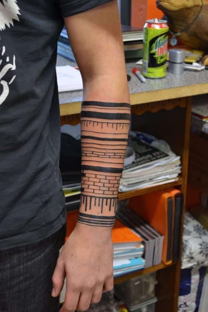 tribal simple tattoo designs for male forearm