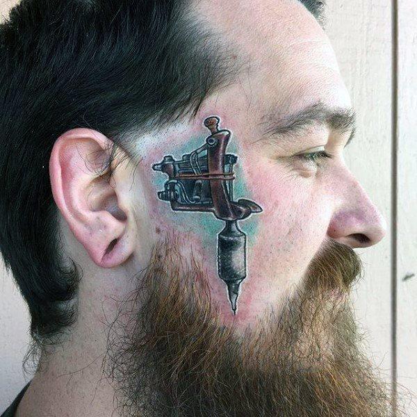 face small tattoo design