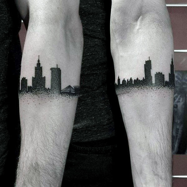 city armband tattoo designs with meaning for men