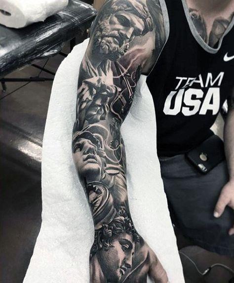 galaxy full sleeve tattoo