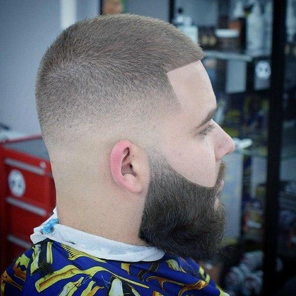 long hair beard man with stylish head hair