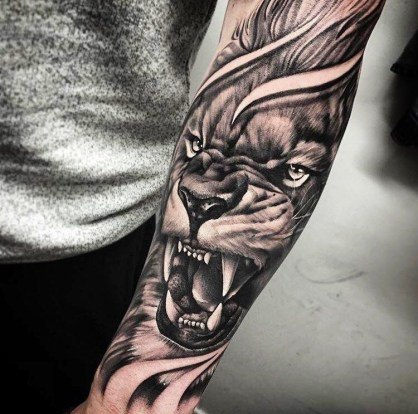 most popular tiger tattoos for guys on arm images