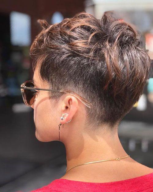 women short layered pixie cut image