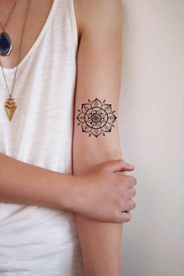 small mandala flower TATTOO DESIGNS FOR WOMEN