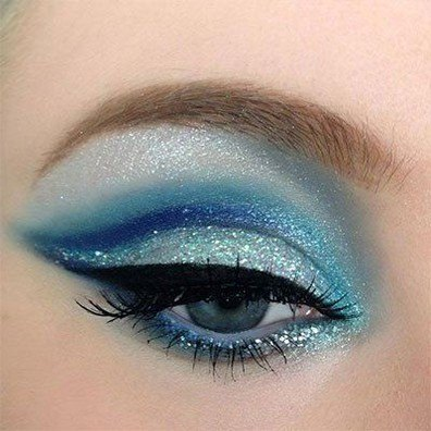 light pink and blue eyeshadow ideas images