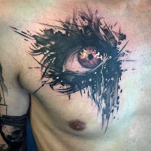 cool tattoos in the middle of your chest images