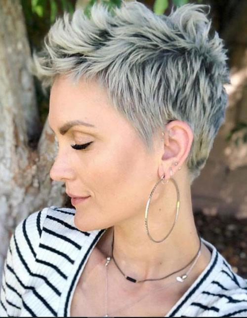 short pixie cuts on  woman