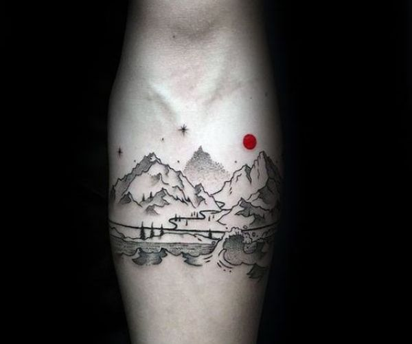 mountain male armband tattoo designs pictures