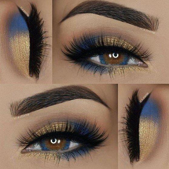 eyeshadow looks with blue