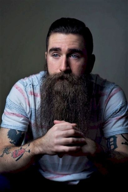 long hair and beard attractive images