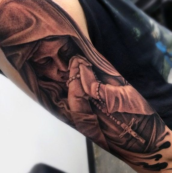 top rosary cover up tattoo arm images