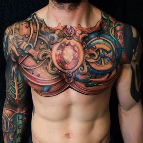 color best tattoo designs in chest