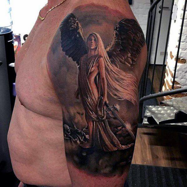 best half sleeve tattoos for guys on shoulder