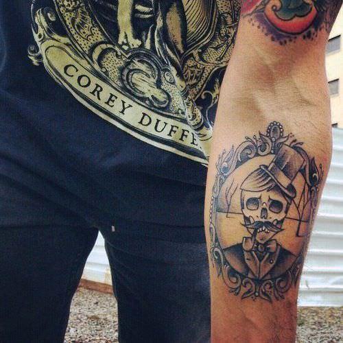 cool arm tattoos for guys skull design