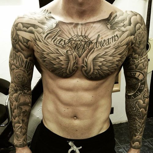 33 Best Male Tattoos Chest Designs Ideas