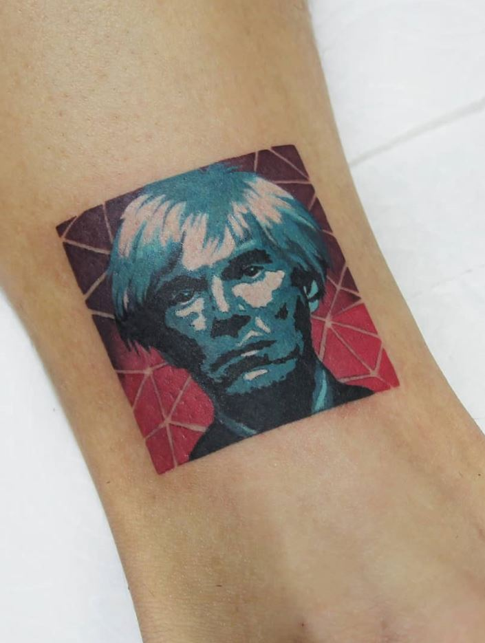 small colorful tattoos for guys