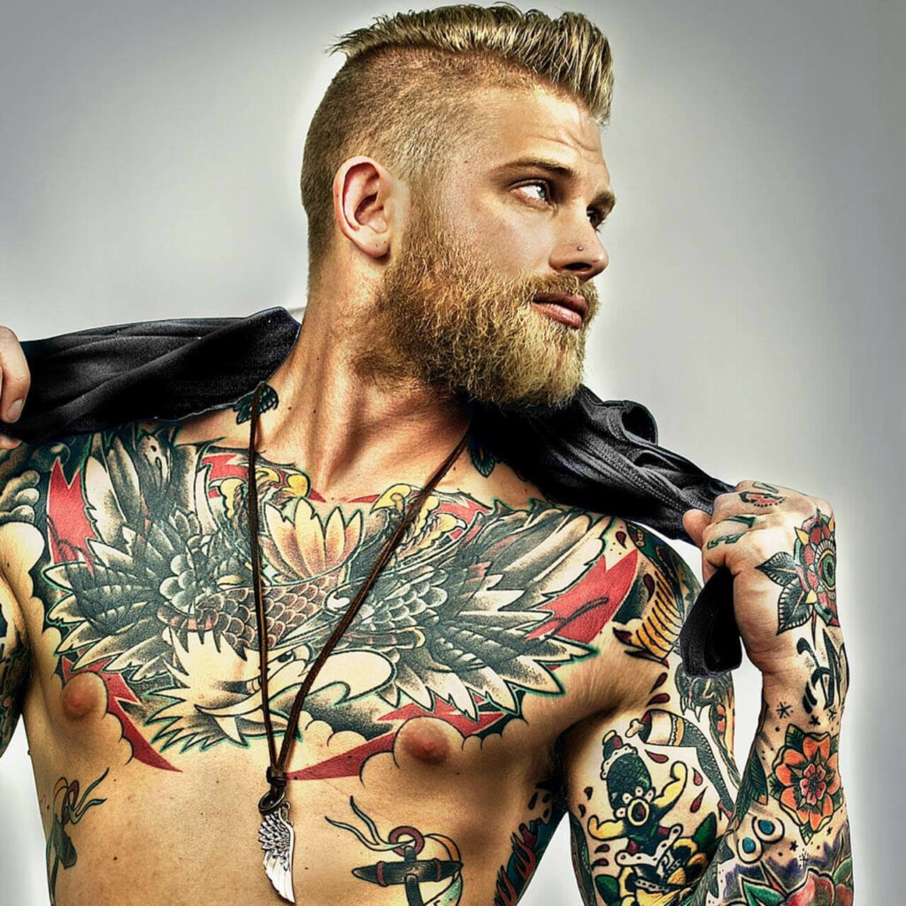 male chest tattoo designs
