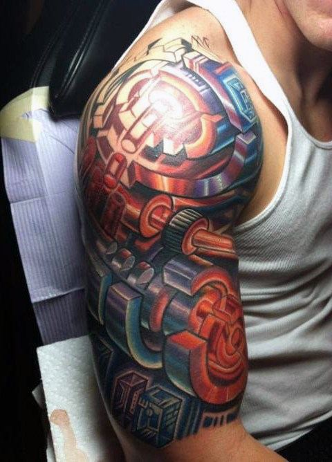 HALF SLEEVE COVER UP TATTOO FOR MEN