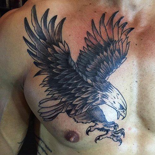 bird tattoo designs chest male