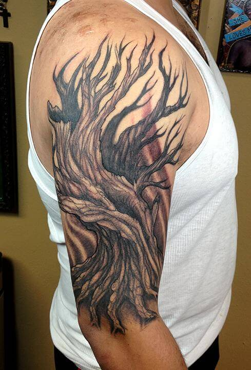 abstract tree good sleeve tattoos for guys images