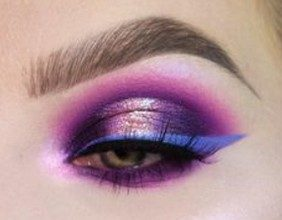 blue and pink eyeshadow makeup