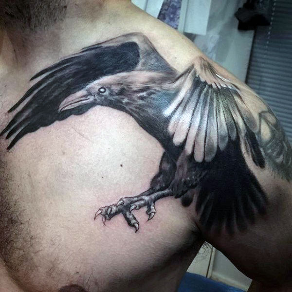 raven tattoos for man
