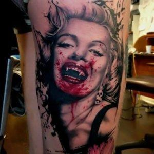 vampire tattoo woman