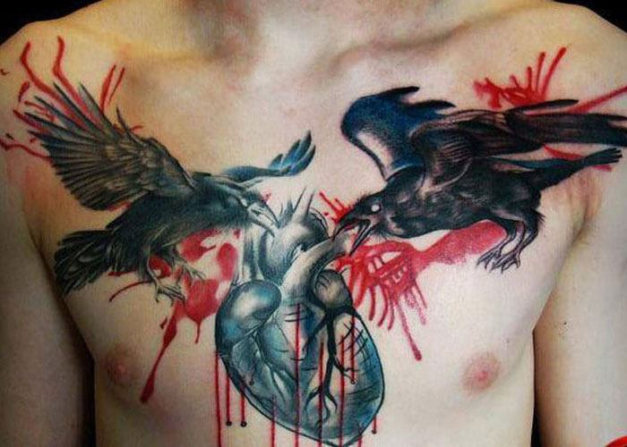 men will wear a chest tattoo