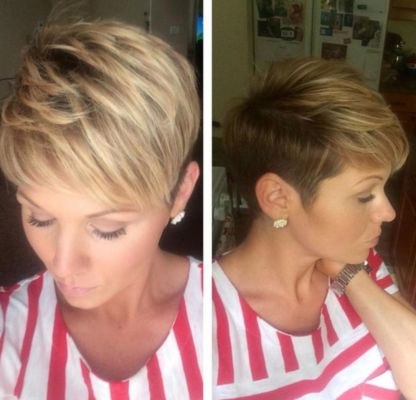 top pixie cut wavy hair women over 30 old
