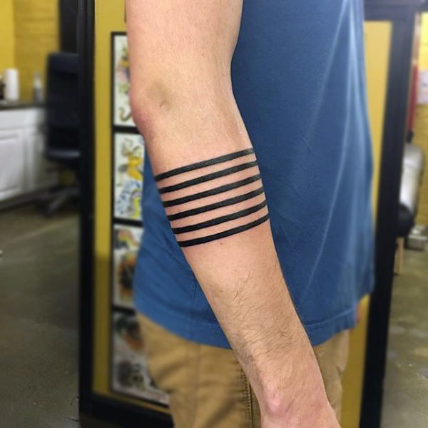 line armband tattoos for guys design images