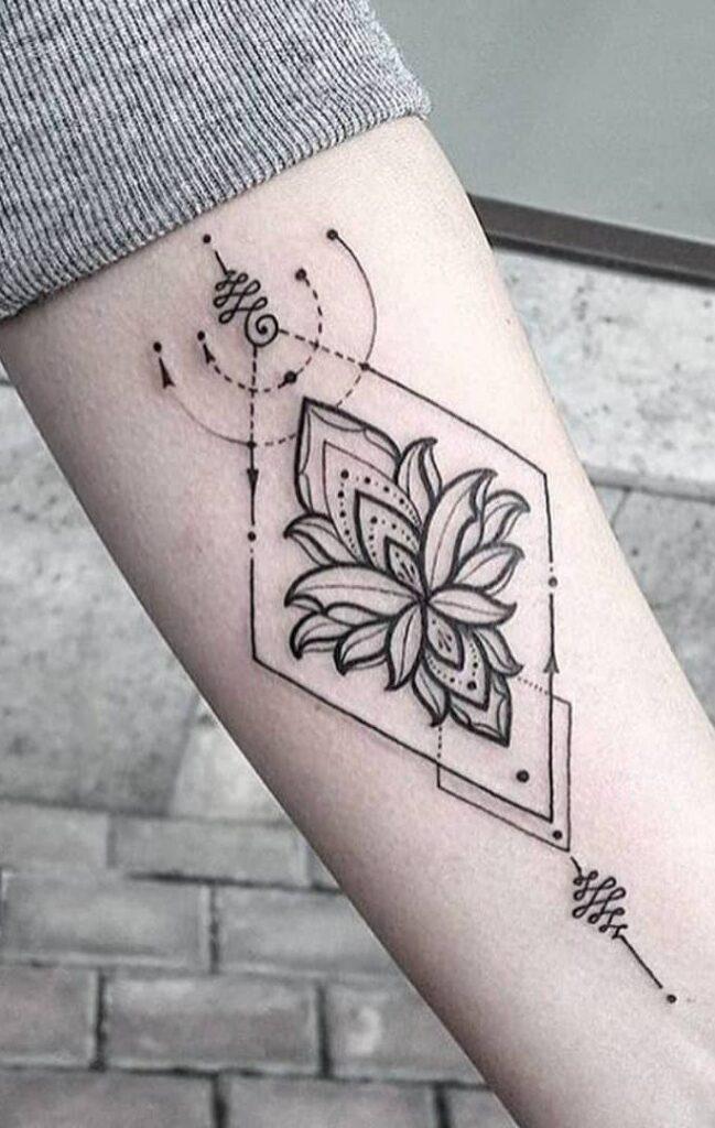mandala flower cute small tattoos for girls on arm