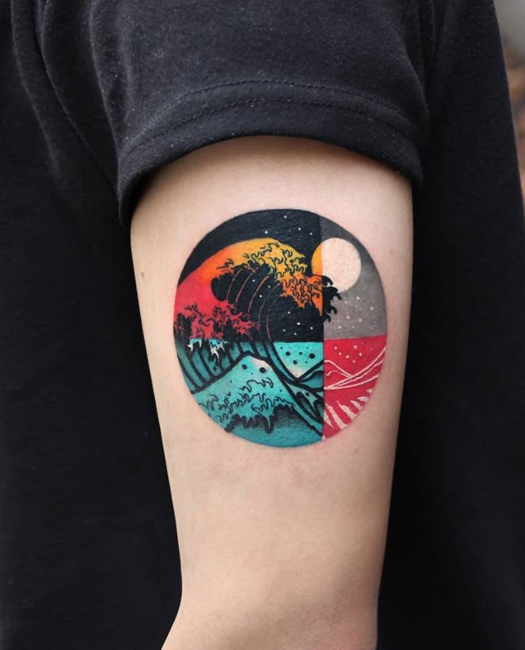 SMALL COLORFUL TATTOOS