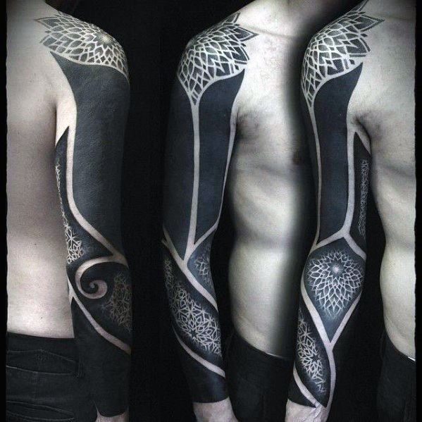 tattoo cover up sleeve upper arm