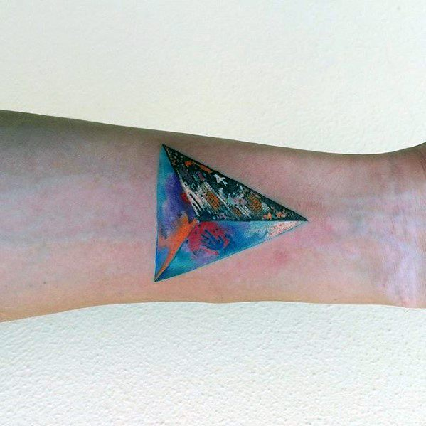 cute small colorful tattoos