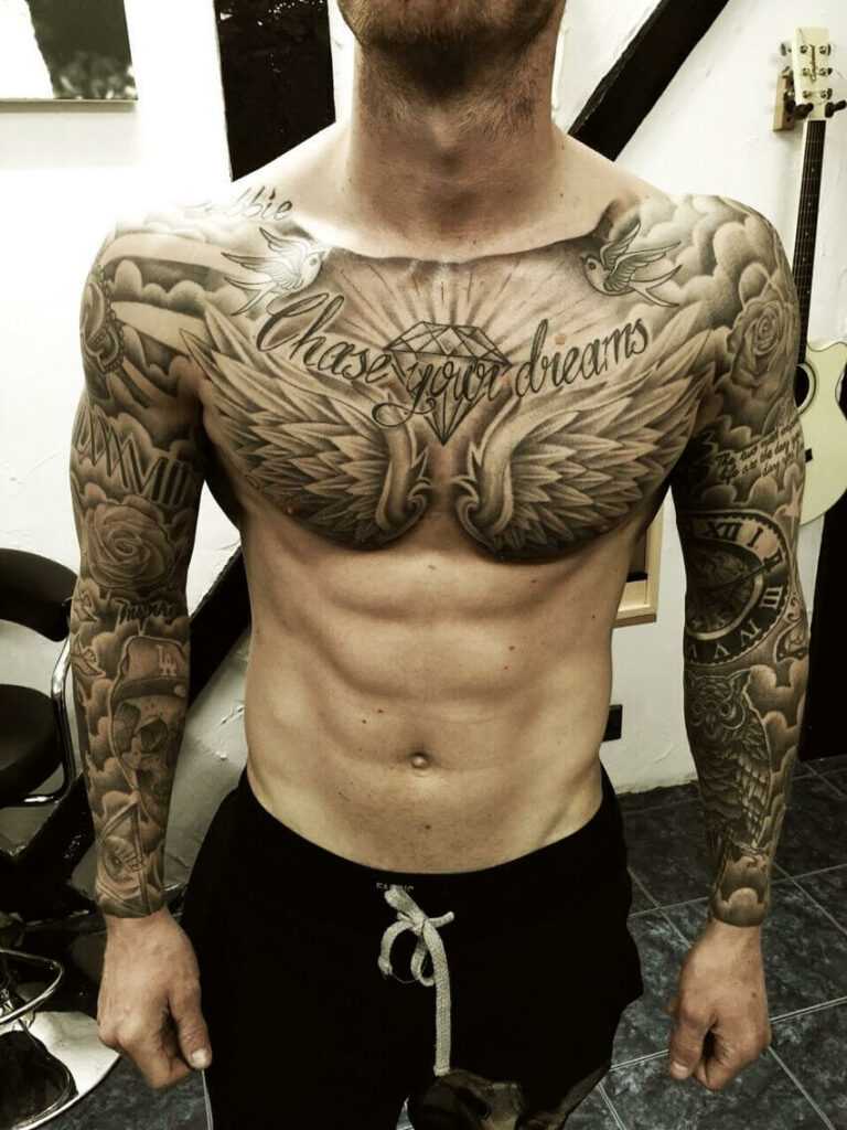 the beautiful men's tattoos