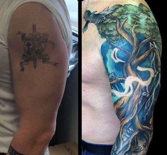 sleeve tattoo ideas for guys on shoulder design