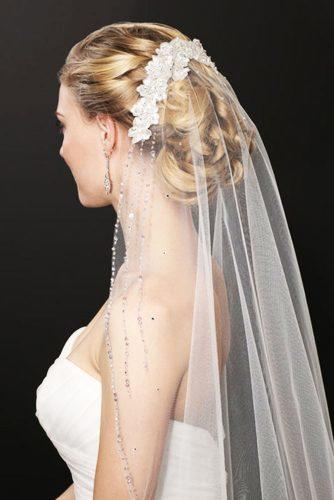 best wedding hairstyles for long hair with veil