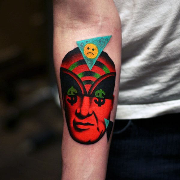 dream catcher tattoo for men on arm design