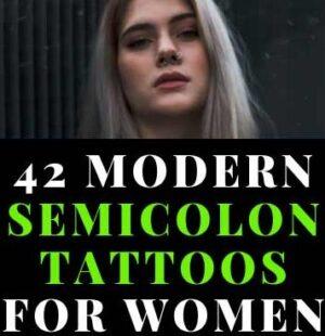 Semicolon Tattoos for Women
